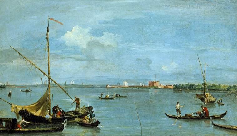 Francesco Guardi: Forte S. Andrea Del Lido, Venice. Fitzwilliam Museum, Cambridge